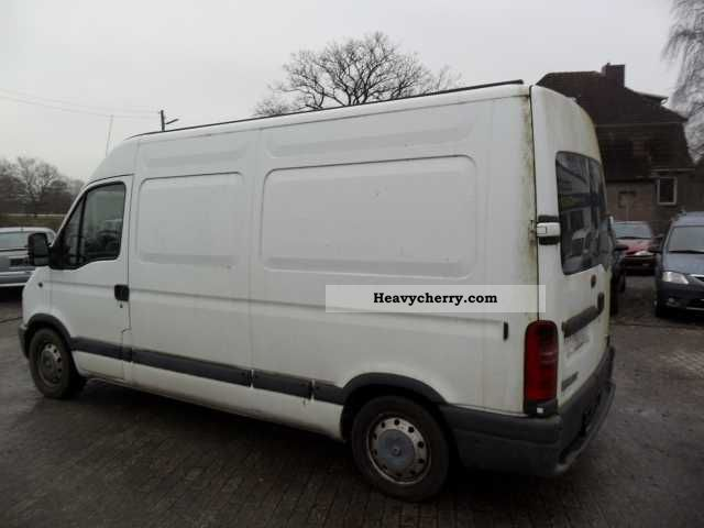 renault master 2 5 dci l1h1 2002 box type delivery van high and long photo and specs. Black Bedroom Furniture Sets. Home Design Ideas
