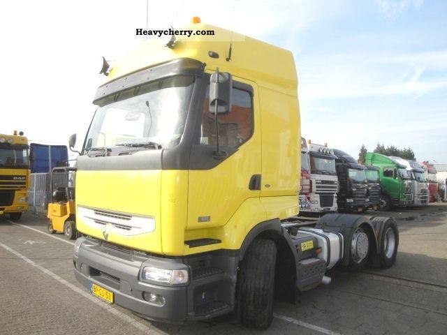 2004 Renault  Premium 25 420 dci 6x2 Pusher Semi-trailer truck Heavy load photo