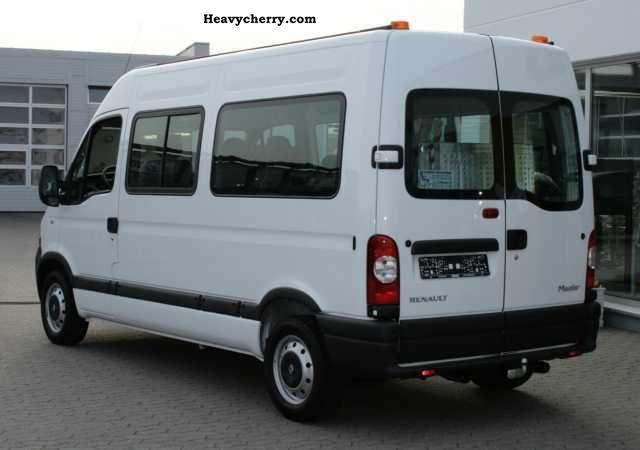 renault master 2 5 dci 120 l2h2 wheelchair transport 2010 estate minibus up to 9 seats truck. Black Bedroom Furniture Sets. Home Design Ideas