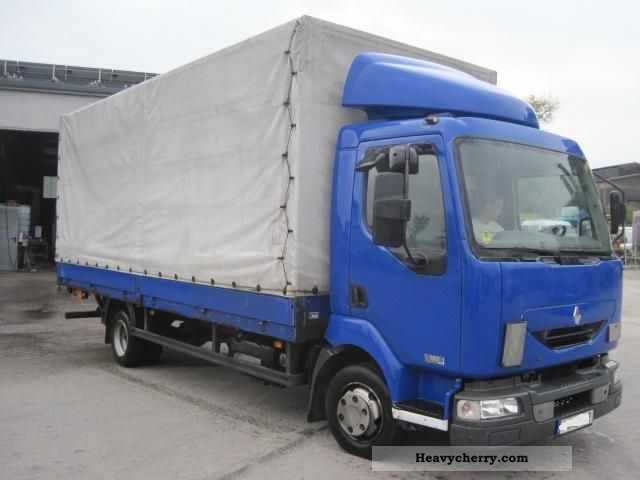 2004 Renault  Midlum 180.08 DCI Van or truck up to 7.5t Stake body and tarpaulin photo