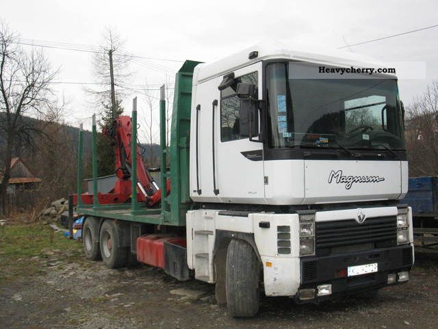 1997 Renault  MAGNUM Thurs drewna drzewa! Truck over 7.5t Timber carrier photo