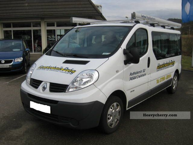 renault trafic l2h1 2 9 t 8 9 sitzer 2009 other vans trucks up to 7 photo and specs. Black Bedroom Furniture Sets. Home Design Ideas