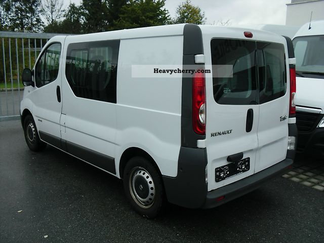 renault trafic dci 115 doka 6 sitzer lkw approval 2008 box. Black Bedroom Furniture Sets. Home Design Ideas