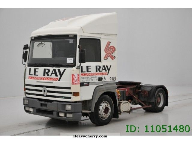 1996 Renault  R 340 Major Semi-trailer truck Standard tractor/trailer unit photo