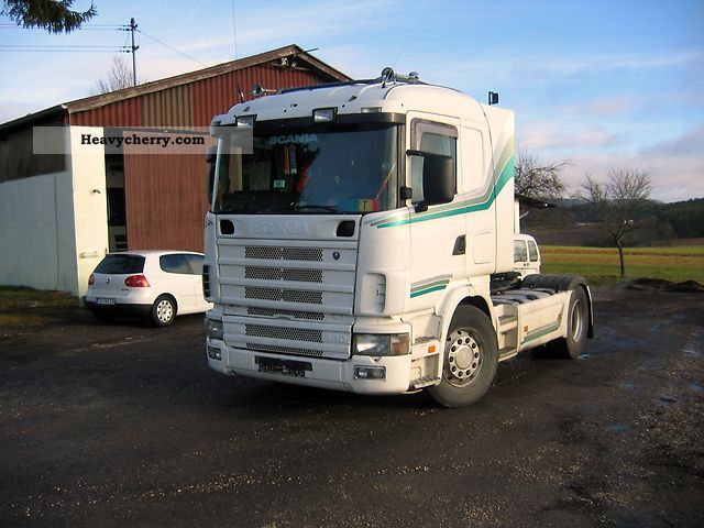 Tractor Trailer Units : Scania truck standard tractor trailer unit photo and