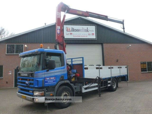 1998 Scania  P94D 220 4x2 Manual + 2005 HMF 1460 Crane with R Truck over 7.5t Stake body photo