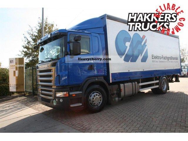 2010 Scania  G320 slide masking / lbw Truck over 7.5t Stake body and tarpaulin photo