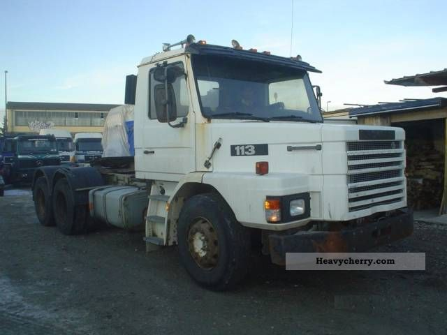 1994 Scania  113 - 6x4 - Tractor Semi-trailer truck Heavy load photo
