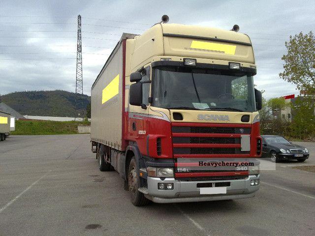 2003 Scania  114 340 6x2 flatbed tarp Truck over 7.5t Stake body and tarpaulin photo