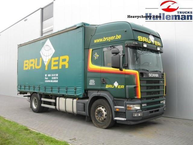 2004 Scania  R124.420 Topline 4X2 RETARDER EURO 3 Truck over 7.5t Stake body and tarpaulin photo