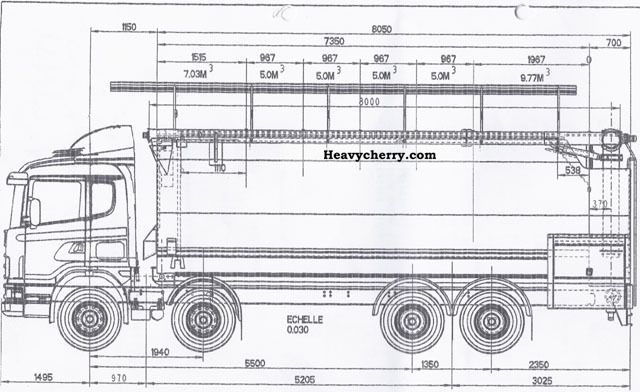 Scania R124 420 8x4 SILO 2004 Food Carrier Truck Photo and Specs