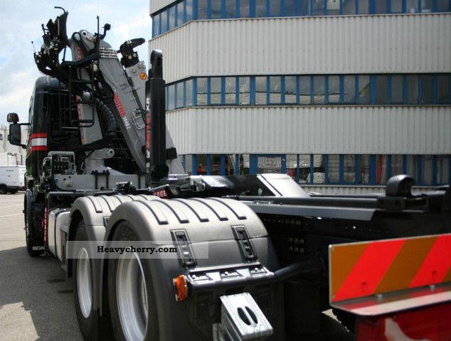 Scania R 730 Crane Hook LB6x2HNA E5 EEV 2011 Roll-off tipper