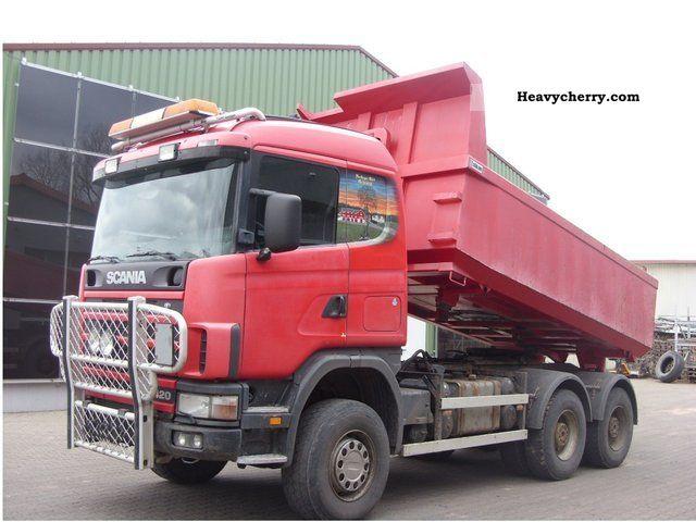 2002 Scania  124 c 420 6x6 all-wheel-change-Sörling Aufb Bordmat Semi-trailer truck Heavy load photo