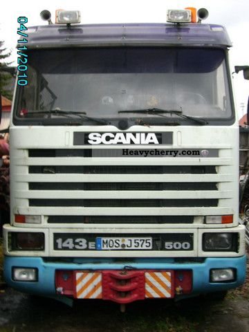 1999 Scania  143 E 500 hp Semi-trailer truck Heavy load photo