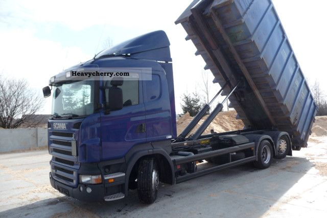 2007 Scania  420 6X2 MANUAL HAKOWIEC 2007 r Truck over 7.5t Roll-off tipper photo