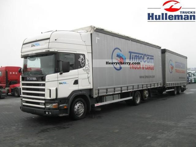 2003 Scania  R124.440 Topline 6X2 WITH TRAILER 120 M3 Truck over 7.5t Chassis photo