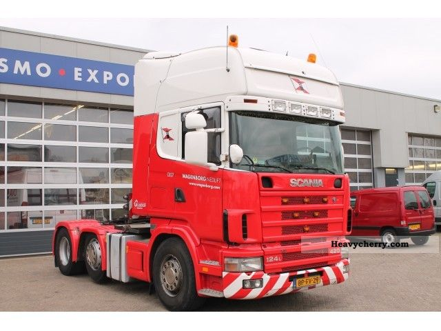 2004 Scania  124 L 420 6x2 Silver Edition; manual + retarder Semi-trailer truck Heavy load photo