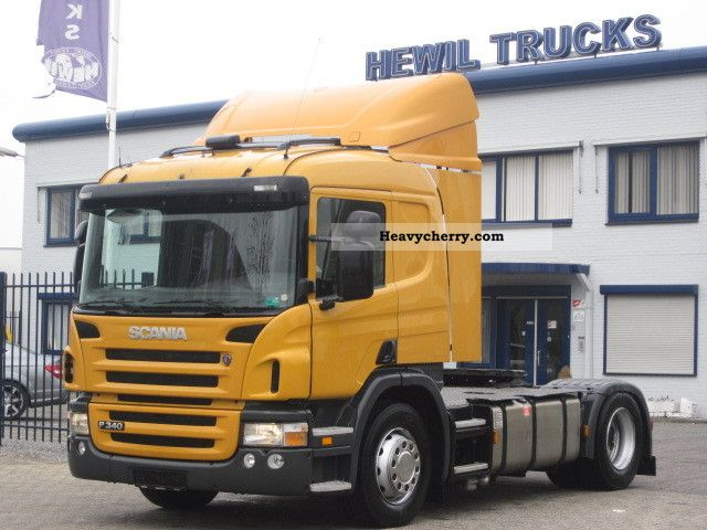 On A Tractor Trailer Weights : Scania p standard tractor trailer unit photo and specs