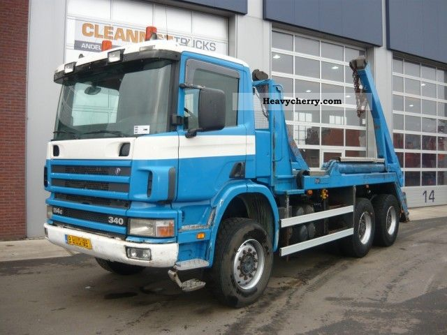 2001 Scania  P 114.340 CB 6x6 Truck over 7.5t Dumper truck photo