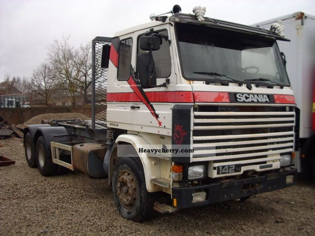 Scania R 142 1987 Roll-off tipper Truck Photo and Specs