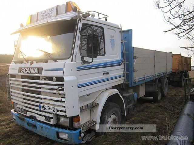 Scania R 142 HL 6X2LC 42PPL 1987 Tipper Truck Photo and Specs