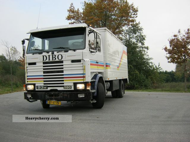 Scania 93 280 sheets / sheet 1993 Box Truck Photo and Specs