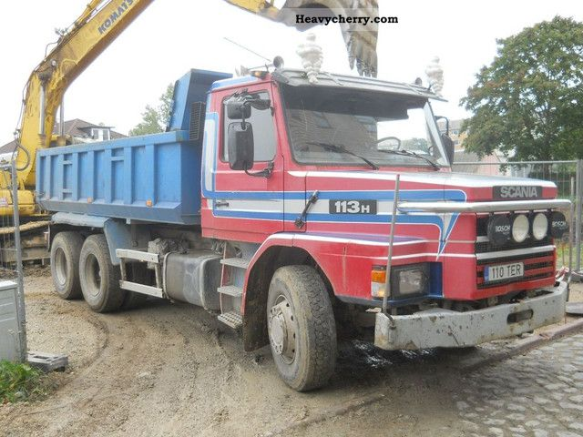 1990 Scania  T113 6x2 tipper (steel suspension) Truck over 7.5t Tipper photo