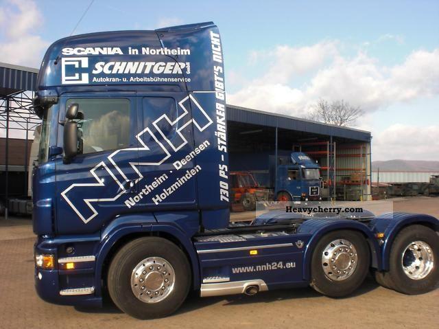 Scania R730 Topline 6x2 V8 2011 Heavy load Semi-trailer Photo and Specs