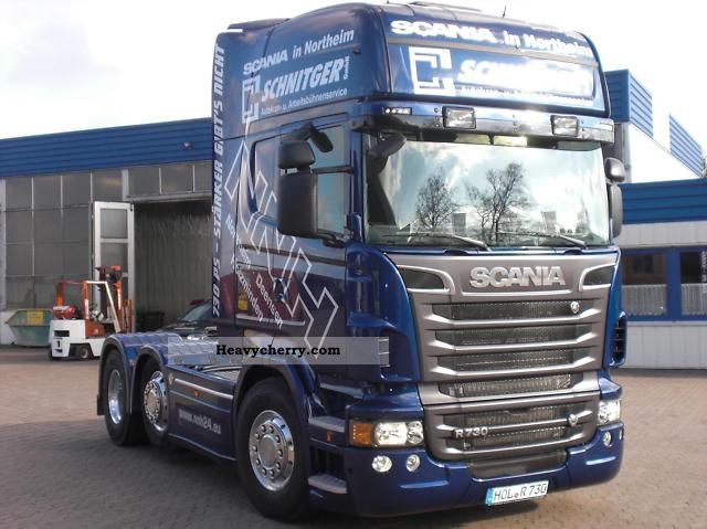 scania r730 topline 6x2 v8 2011 heavy load semi trailer photo and specs. Black Bedroom Furniture Sets. Home Design Ideas