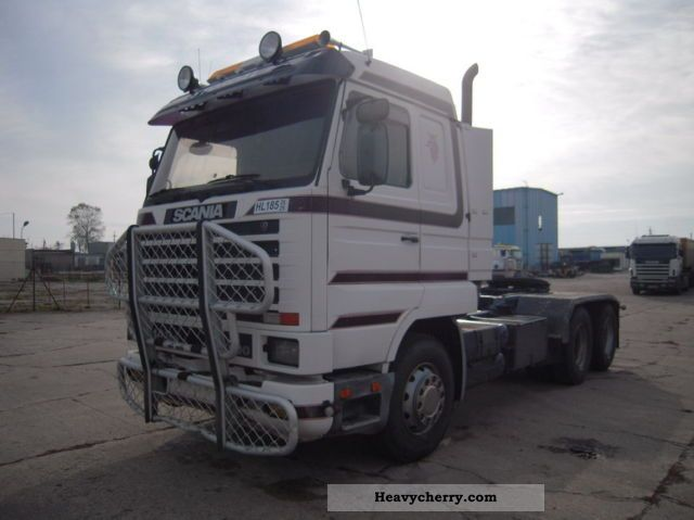 1996 Scania  143/500 Ciągnik siodłowy retarder Semi-trailer truck Heavy load photo