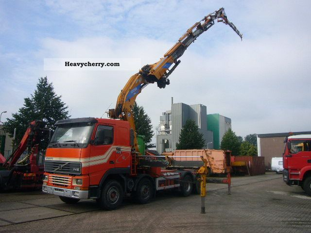 1998 Volvo  FH 16 470 8x4 Effer 720 s 6 Truck over 7.5t Truck-mounted crane photo