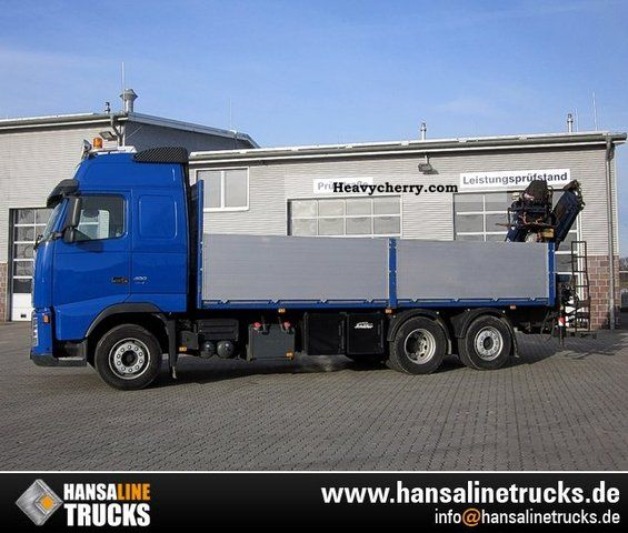 Volvo FH12-480L 6x2 * 4 PLATFORM TIRRE171 (10.5 m = 1.3 ton) 2007 Stake body Truck Photo and Specs