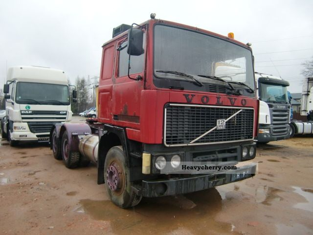 Volvo F12 TURBO 6X2 OLDTIMER 1980 Standard tractor/trailer unit Photo and Specs