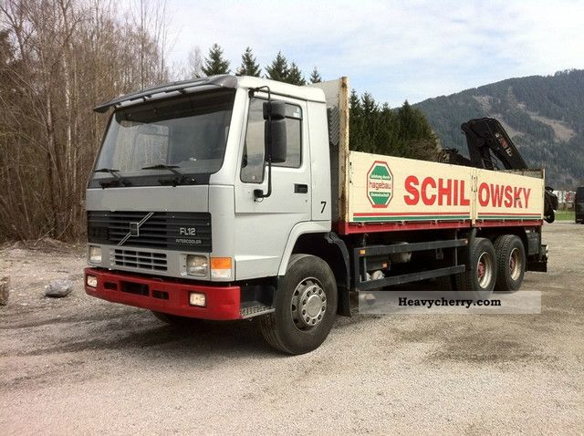1997 Volvo  FL12 380 6X4 Hiab 125 sheets of air-sheet Truck over 7.5t Stake body photo