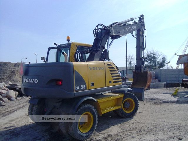 Volvo Ew160b 2006 Mobile Digger Construction Equipment