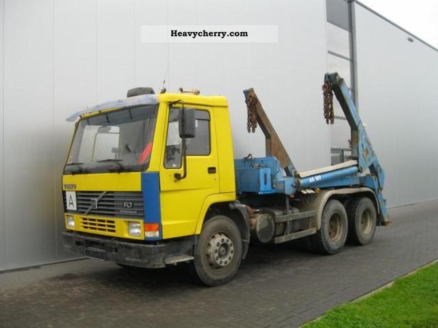 Volvo FL7.280 6X4 MANUAL HYDRAULIC SPRING / SHEET 1996 Dumper truck Photo and Specs