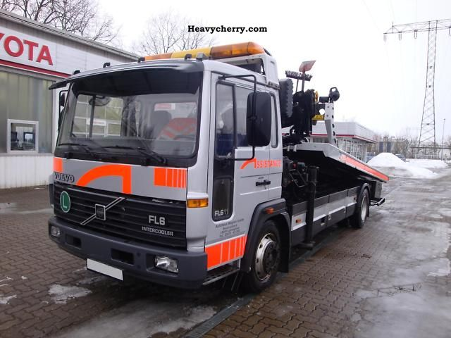 volvo fl6 11 tow truck with crane 1997 breakdown truck. Black Bedroom Furniture Sets. Home Design Ideas