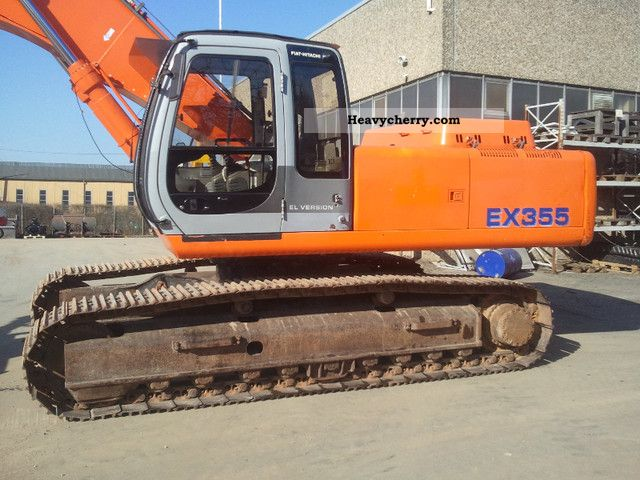 1999 Hitachi  EX 355 SW Air Hydraulic 2Löffel top condition Construction machine Caterpillar digger photo