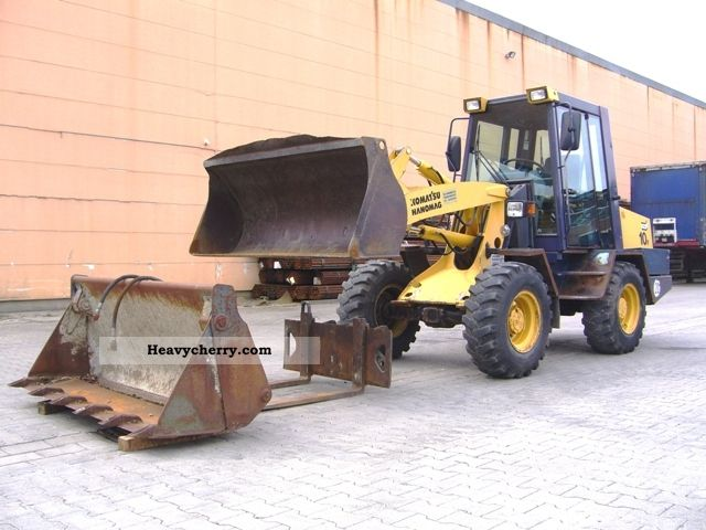 1997 Hanomag  10 F with standard / front bucket and pallet delivery Construction machine Wheeled loader photo