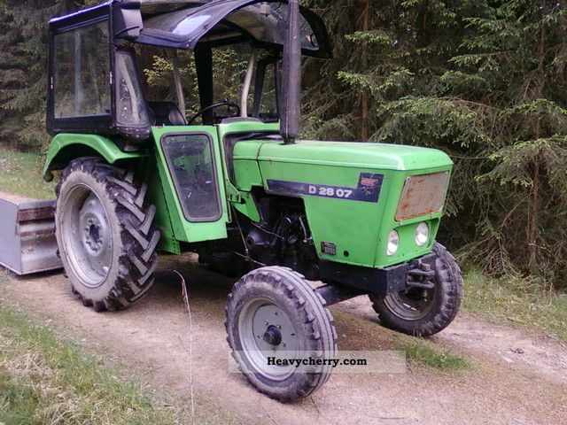 1984 Deutz-Fahr  2807 Agricultural vehicle Tractor photo