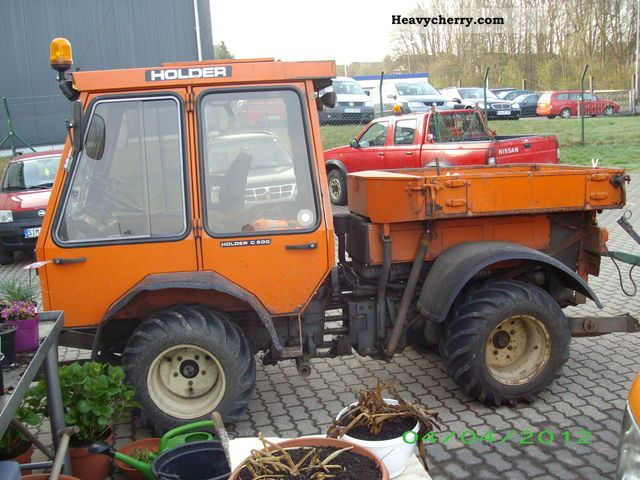 1986 Holder  C 500 Agricultural vehicle Tractor photo