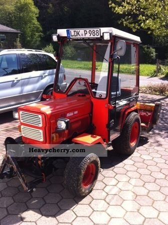 1988 Hako  2700 with mower snow plow and spreader Agricultural vehicle Tractor photo