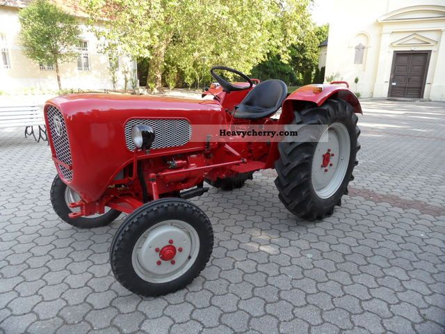 1959 Guldner  Güldner A3KA Burgundy Agricultural vehicle Tractor photo