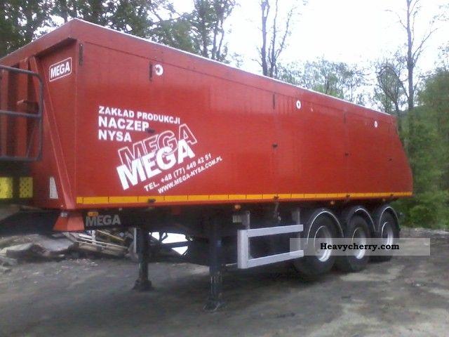 2008 MEGA  2008 aluminum 34m3 tipper Semi-trailer Tipper photo