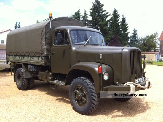 1975 Other  Saurer 2DM Bernadette 2VM 4x4 vintage H mark Truck over 7.5t Stake body and tarpaulin photo