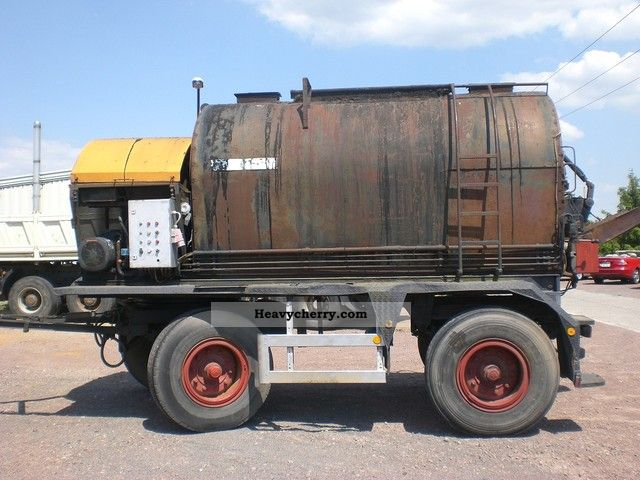 1990 Other  Benninghoven GLK 6 OIL-H bitumen tar kettle Trailer Silo photo