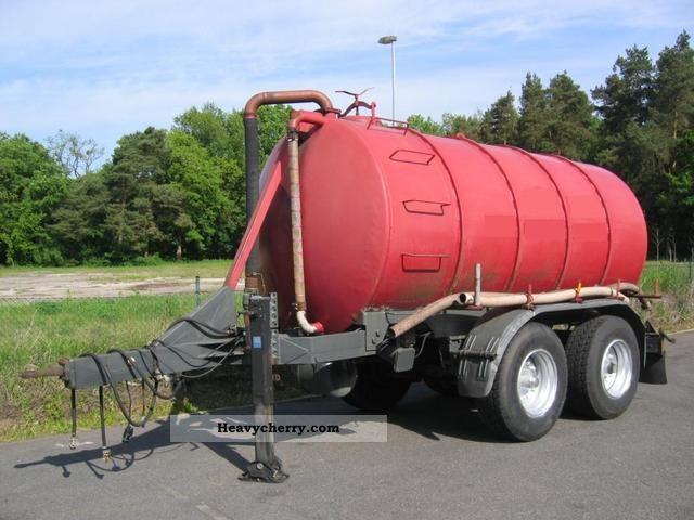 1993 Other  Bardenhorst tandem suction pressure feces 13 m³ Trailer Tank body photo