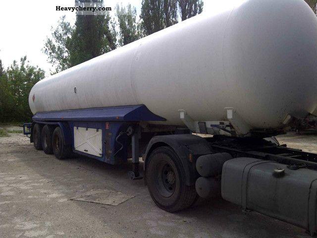 ZASTA N-42 gas tank 2001 Tank body Semi-trailer Photo and ...