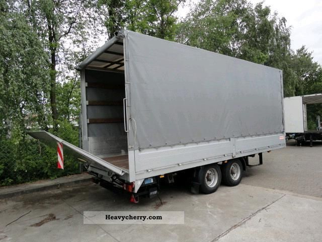 1998 Other  Tandem trailer with liftgate plan 1 t Trailer Stake body and tarpaulin photo