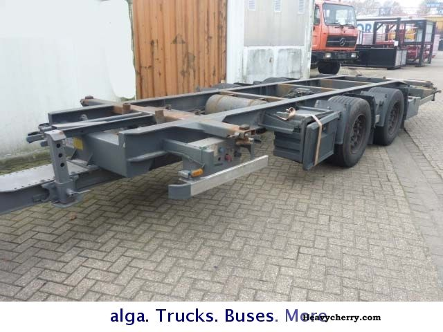 2007 Other  H \u0026 W tandem swapbodies 18 To Anh. Trailer Chassis photo